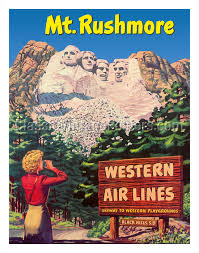 South Dakota travel posters images Art prints posters mt rushmore national memorial black jpg
