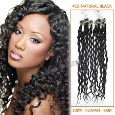 100 human hair extensions inch 1b black curly micro loop human hair extensions 100s
