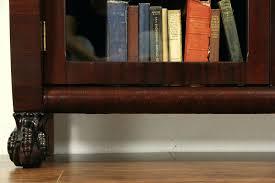 tall bookcase with glass doors mahogany bookcase storage with glass doors tall bookcases uk
