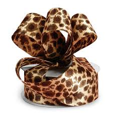 leopard ribbon leopard print satin ribbons