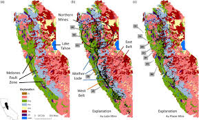 Sierra Nevada Mountains Map Arsenic And Mercury Contamination Related To Historical Gold