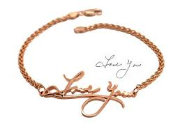 memorial bracelets for loved ones handwriting bracelet your custom bracelet with actual writing in