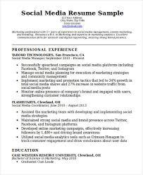 Media Resume Template 7 Social Media Resumes Free Samples Examples Formats Download