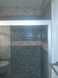 bathrooms with showers glass tile accents bathroom vanity wall