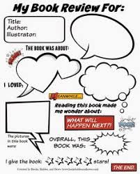 book review template english pinterest book review template