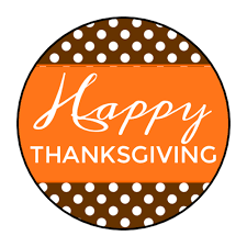 happy thanksgiving circle labels label templates ol2088