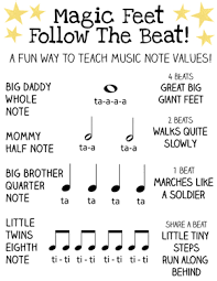 a fun way to teach kids musical note values music notes music