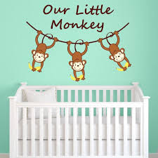 Nursery Monkey Wall Decals Our Monkey Wall Decal Wall Decal World