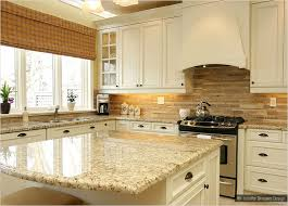 giallo ornamental granite subway travertine backsplash beige