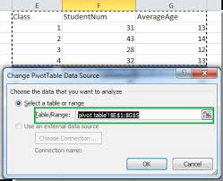 how to update pivot table how to update pivot table range in excel