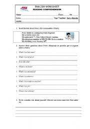 reading comprehension worksheet 5th grade