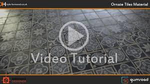 creating ornate tiles material in substance designer promo youtube