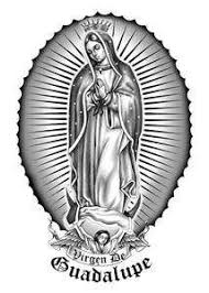 virgin mary virgen de guadalupe temporary tattoo tattoos