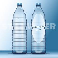realistic water bottle with label template vector free download