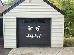 monster garage door halloween decoration easy 2 make white duck