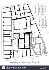 stock floor plans architecture floor plans thermae in pompeii 1st century stock