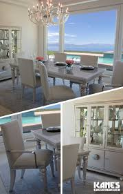 kanes dining room sets glimmering heights 5 piece dining set clear acrylic steel and room