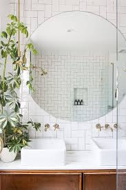 pretentious round mirror in bathroom fall s trend mirrors 24 east