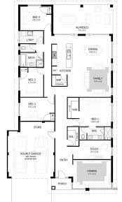 Split Level Homes Plans 44 4 Bedroom 2 Living Room House Plans Bedroom One Story House 4