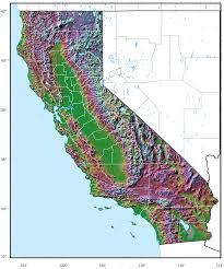 Pasadena Ca Map California Relief Map California Map