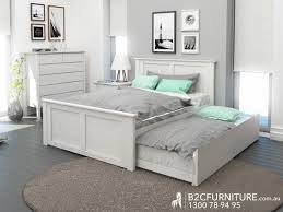 Double Trundle Bed Bedroom Furniture | whitewash double trundle bed fantastic timber modern bedrooms
