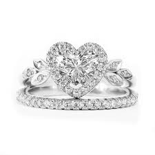 heart shaped wedding rings outstanding dainty diamond jewelry blossom heart shaped