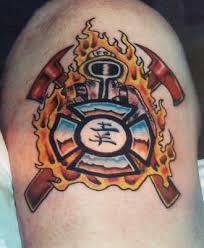 firefighter rescueing a child firefighter tattoo tattoomagz