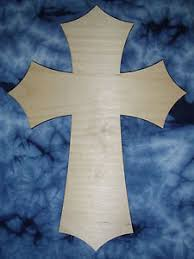wooden craft crosses wood cross unfinished wooden craft crosses 24 inch part c24 038