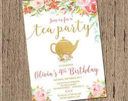 shabby chic birthday invitation first birthday