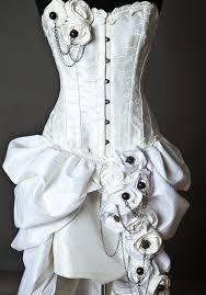 custom size ivory steampunk burlesque corset by glamtastik