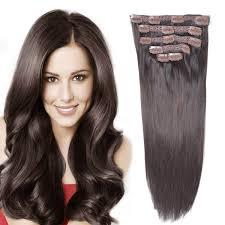 Brown Hair Extensions by Human Hair Clip In Hair Extensions Bhf 14 U0027 U0027 Dark Brown 2 70g