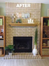 update our old yellow house i fireplace brick stain used brick