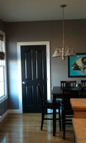 black painted interior doors love it our wall color and carpet