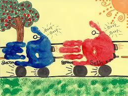 car handprints preschool art for art to remember pinterest