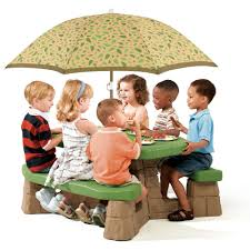 Little Tikes Fold And Store Picnic Table Manual by Naturally Playful Picnic Table With Umbrella