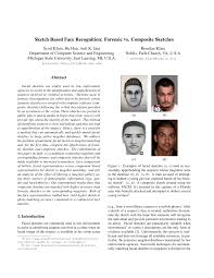 sketch based face recognition forensic vs composite sketches