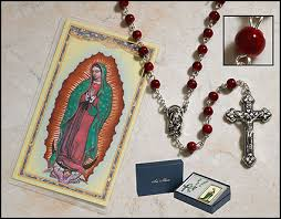 our of guadalupe rosary our of guadalupe marble rosary gift set