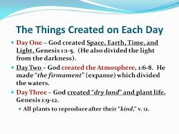 what day did god create light genesis one in the beginning time god force created action