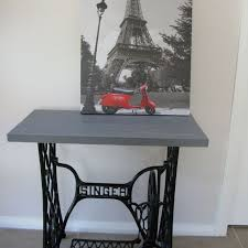 Sewing Machine With Table Singer Sewing Machine Cabinet Makeover To Hall Table Hometalk