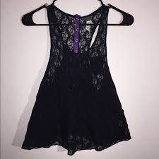 54 off free people tops free people black lace beach tank top