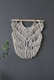 103 best macrame images on pinterest macrame wall hangings macrame wall hanging on decorative wooden dowel giant bohemian macrame wall hanging handmade wall art boho macrame home decor
