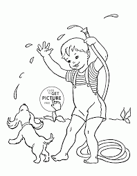 summer the best time for swimming coloring page for kids seasons