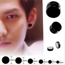 clip on earrings for men men women magnetic hematite titanium steel earrings clip on ear