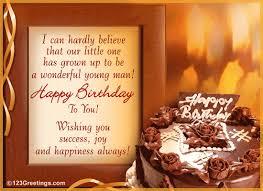 inspirational birthday wishes family man free son