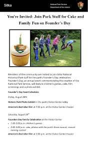 sitka national historical park celebrates founder u0027s day with cake