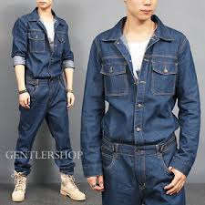 mens jumpsuit fashion mens fashion overall one blue denim jumpsuit 8812