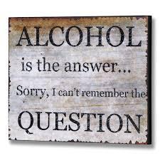 alcohol plaque wooden sign 30cm x 25cm
