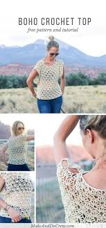 boho crochet canyonlands boho crochet top free pattern make do crew