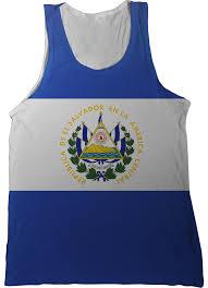 Flag El Salvador El Salvador Flag Tank Top Nation Tanks