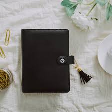black leather scrapbook lovedoki a5 a6 black leather notebook and journals personal